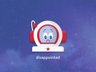 Disappointed astronaut