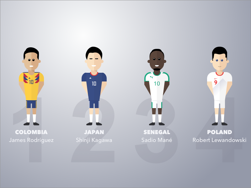 Group H world cup senegal sports soccer people japan colombia illustration poland football fifa avatar
