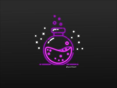 Neon Potion neon light neon sign magic logo potion neon