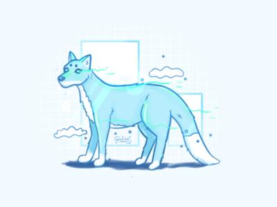 Icefox character design firefox magic fox illustration animal fox water snow element ice