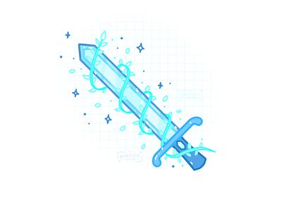 Magic Sword magic vines illustration weapon sword
