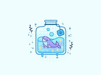 Whale whale logo bottle liquid galaxy jar ink whale