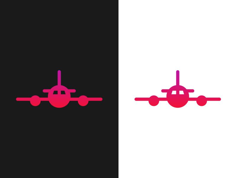 12 - Airplane gradient airplane logo plane logo airplane plane logo logo a day logo design dailylogochallange logo concept branding