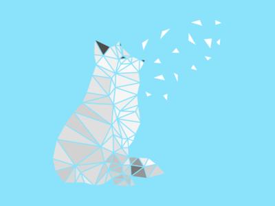 Fox Poly Art