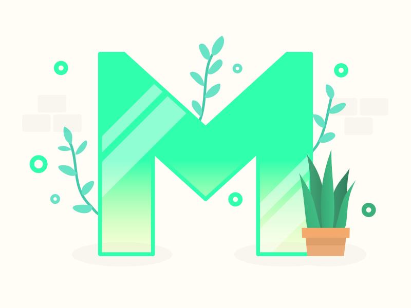 Letter M plants letter 36daysoftype