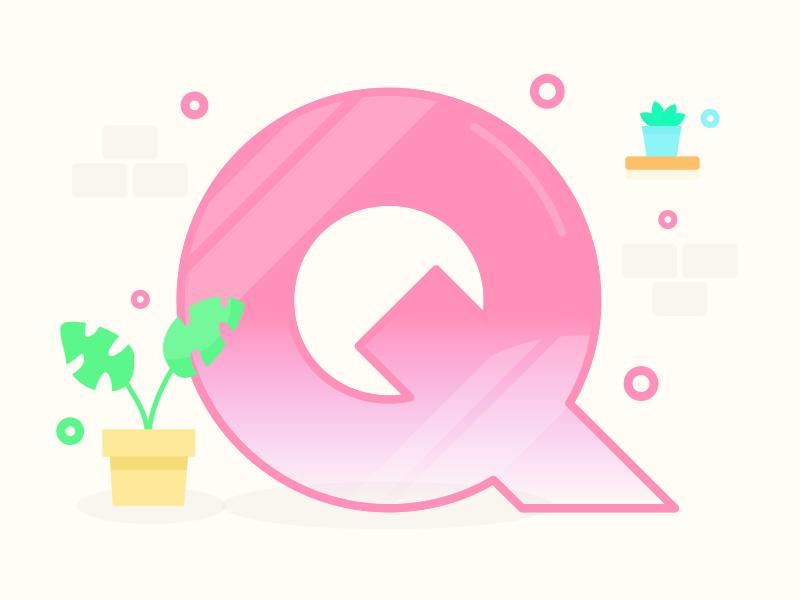 Letter Q plants 36daysoftype