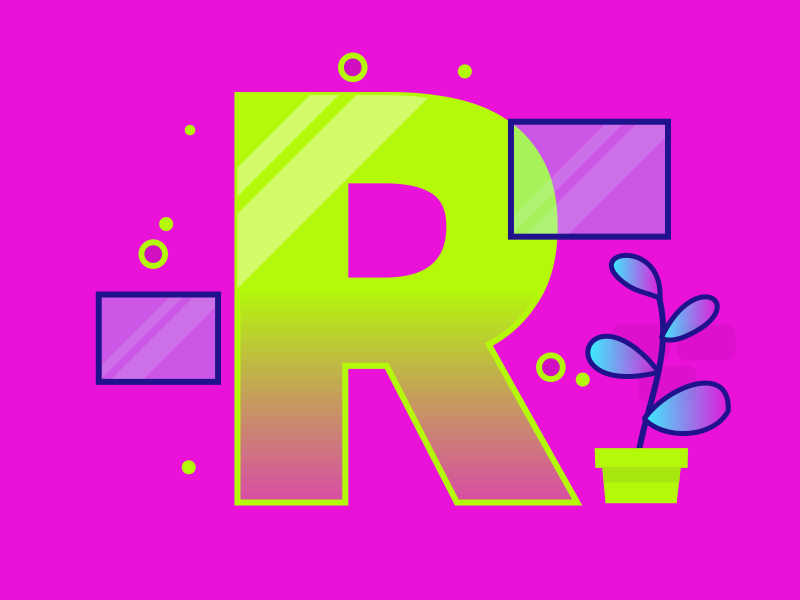Letter R 36daysoftype