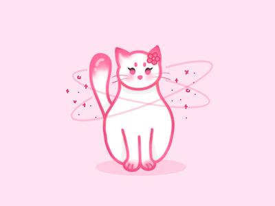 Sakura Cat illustration flowers cat sakura