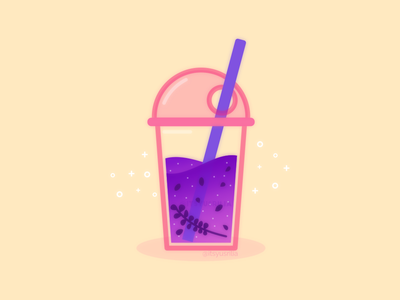 Lavender Bubble Tea drinks soft drink straw boba tea bubble tea juice drink lavender