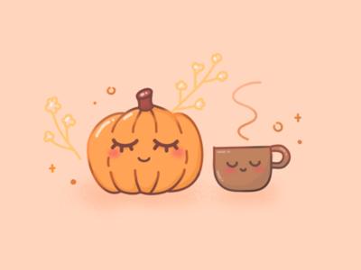 Hello Autumn :) pumpkin illustration autumn fall