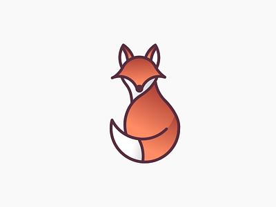 Fox dribbbleweeklywarmup autumn animal icon logo fox
