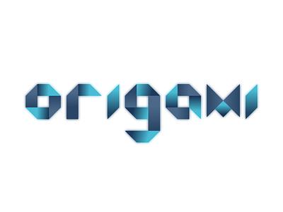 Origami Letterform dribbbleweeklywarmup logotype logo letterform origami letters