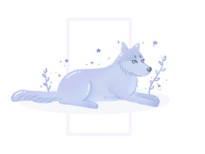 Wolf illustration character design wolf illustration mammal plants animal nature wolf