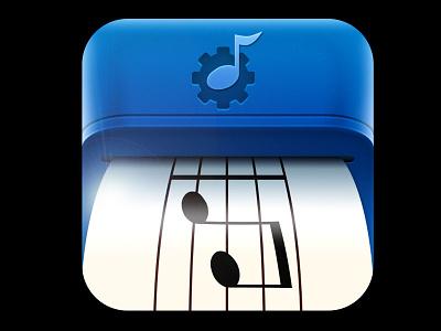 Sight Reading Machine machine music sight reading ios app mobile iphone photoshop blue gear print
