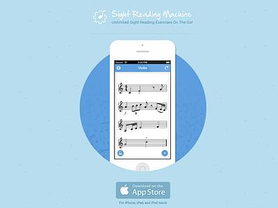 Sight Reading Machine IOS app flat ui responsive web music app ios psd ipad