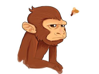 Monkey paint photoshop game monkey illustration