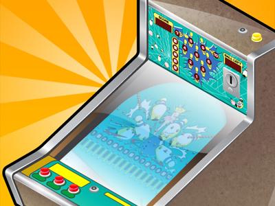 Happy Bowling ios game retro iphone pinball game design app