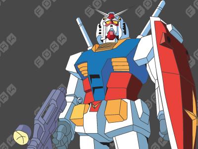 Gundam vector AI file gundam ai vector gundom rx-78