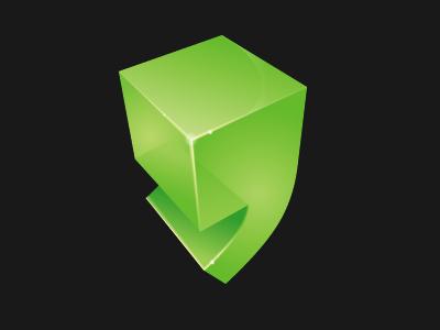 Logo design logo green web ai 3d