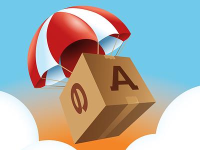 Airborne icon splash ios illustration onesky airborne sky