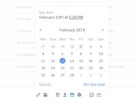 Action bar with date picker