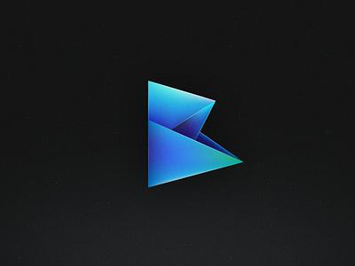 Logo [Web App] b logo b branding logo branding hexagonal illustrator blue green gradient symbol icon mark b vector