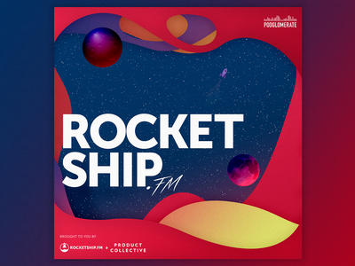 Rocketship.fm Season 9 Podcast Cover podcasts podcast logo illustraion album art album cover cover artwork cover design cover art podcast art podcast