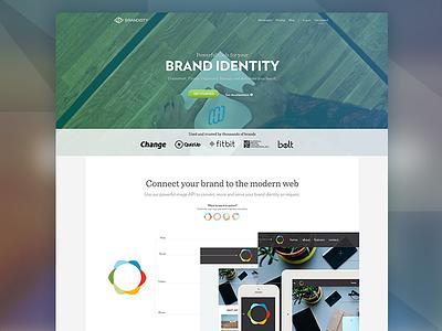 Homepage Redesign [Brandisty web] hero header homepage app web responsive video animation