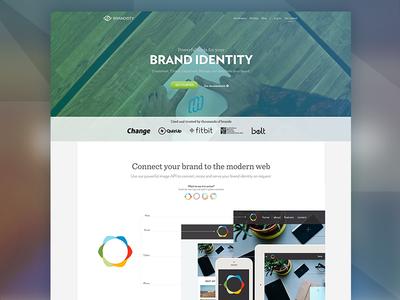 Homepage Redesign [Brandisty web]