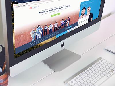 WithCircle Landing Page [Web] landing splash design css homepage brick web branding startup