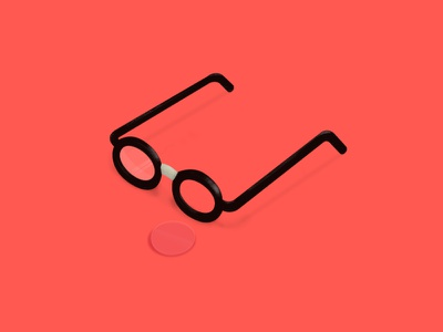 Glasses [New Rocketship.fm Homepage] landing homepage coke bottle orange tape lense broken illustration glasses