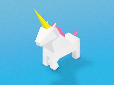Unicorn low poly toy animal blue photoshop illustrator illustration 3d unicorn