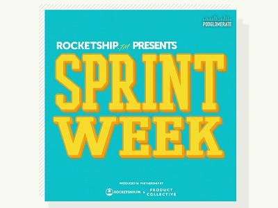 Design Sprint Week cover art cover podcast branding logo illustration
