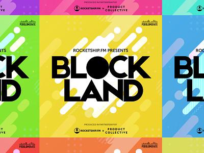 Podcast Cover: Blockland podcasting podcast logo podcast art vector illustration podcast cover podcast branding logo crypto