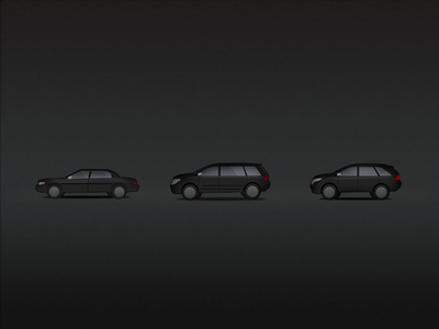 Vehicle Icons for iOS app icons icon vector transportation minimal vehicle car suv van iphone