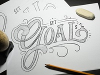 Lettering Set Goals Sketch