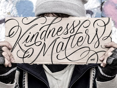 Kindness Matters Lettering matters homeless ipad pro procreate kind calligraphy lettering kindness