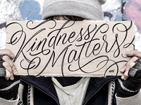 Kindness Matters Lettering
