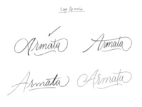 Sketch Calligraphy Logo Armata