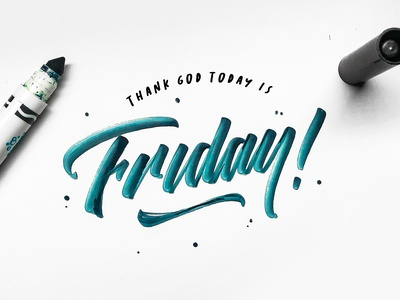 TGI Friday Calligraphy