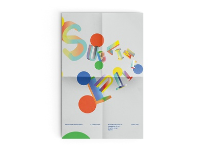 Sublime lutte - Poster design graphic print poster
