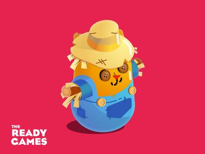 Scaredy Cat scarecrow cat indie game character game design character design