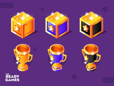 Tournament Tier Icons tier star box cup golden indie game game design ready games