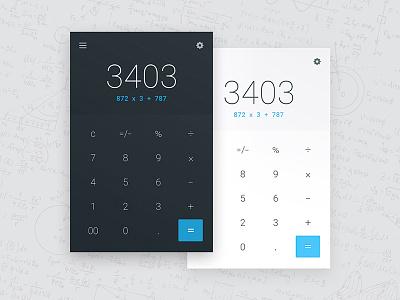 Daily UI #004 - Calculator blue math calculator design ui ux daily ui