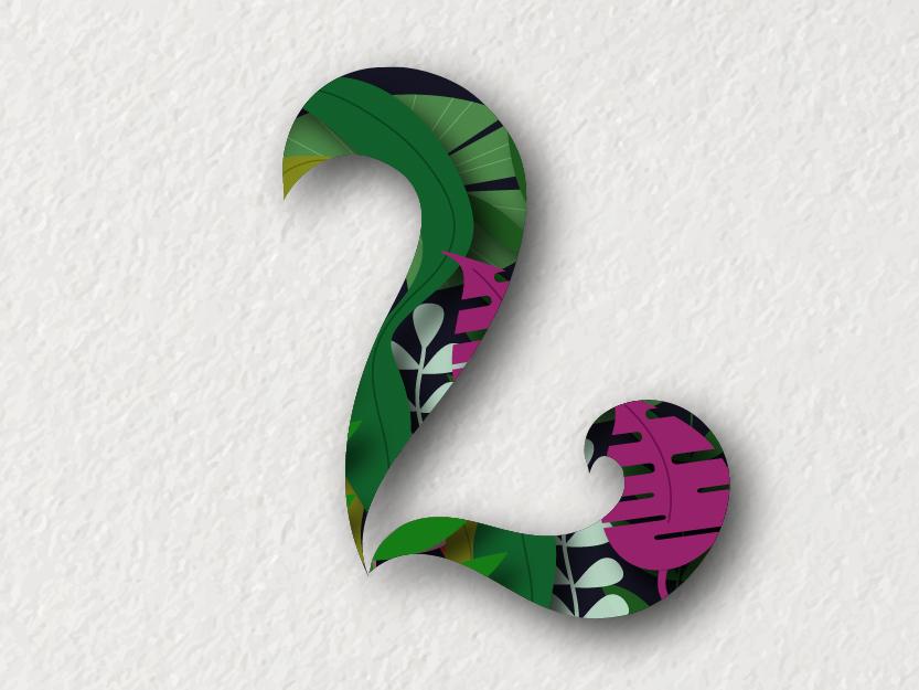 L ui color typography ilustracion icon illustrator vector logo design diseño chile letras letra l letra lettering