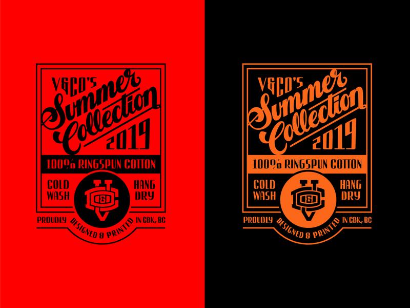 Summer Collection Interior Tags script letter packaging apparel design apparel tshirt tag logotype vector typography 2d logo lettering flat illustration design branding