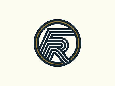 Forerunner Monogram identity circle badge logo badge runner run racing monogram logo monogram clean icon typography vector logo lettering illustration 2d design branding
