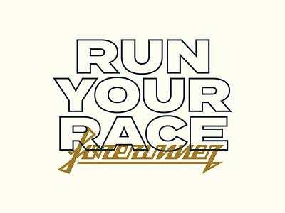 Forerunner Slogan logotype icon typography vector logo lettering flat illustration 2d design branding