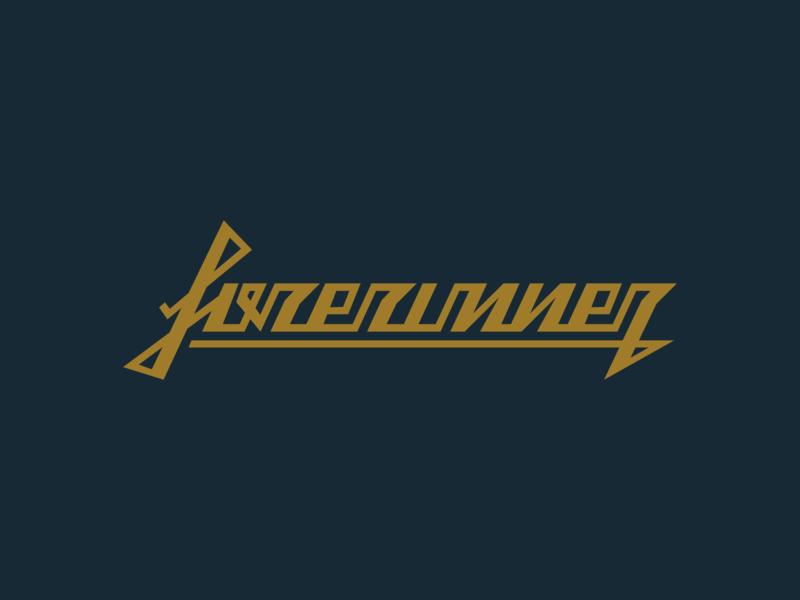 Forerunner Logotype logotype icon typography vector logo lettering flat illustration 2d design branding