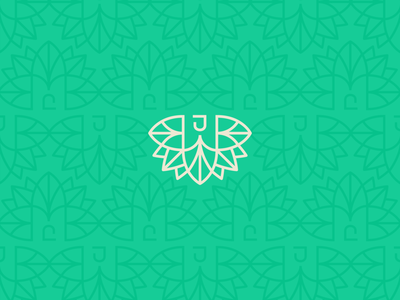 Monogram Blossom monogram design monogram art icon typography vector logo lettering flat illustration design branding